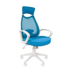 Кресло CHAIRMAN 840 WHITE Голубой