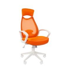 Кресло CHAIRMAN 840 WHITE Оранжевый