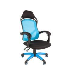 Кресло CHAIRMAN GAME 12 Черный/Голубой