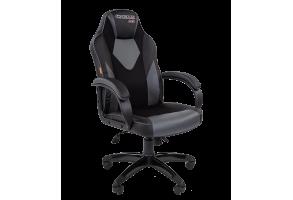 Кресло CHAIRMAN GAME 17 Черный/Серый