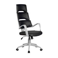 Кресло SAKURA (Сакура) (серый пластик) Черный