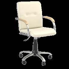 Кресло Samba (Самба) GTP Chrome V18 W1007 Белый