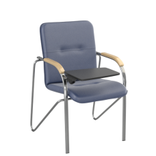 Стул Samba T (Самба) Chrome V15 W1007 Синий со столиком