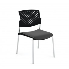 Кресло Butterfly (Баттерфляй) пластик/ткань Серый/хром