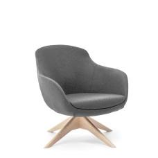 Кресло Noble Wood Темно-серый