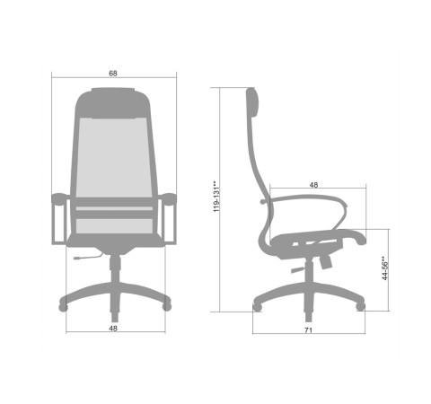 Кресло Metta (Метта) Комплект 12 Ch Черный